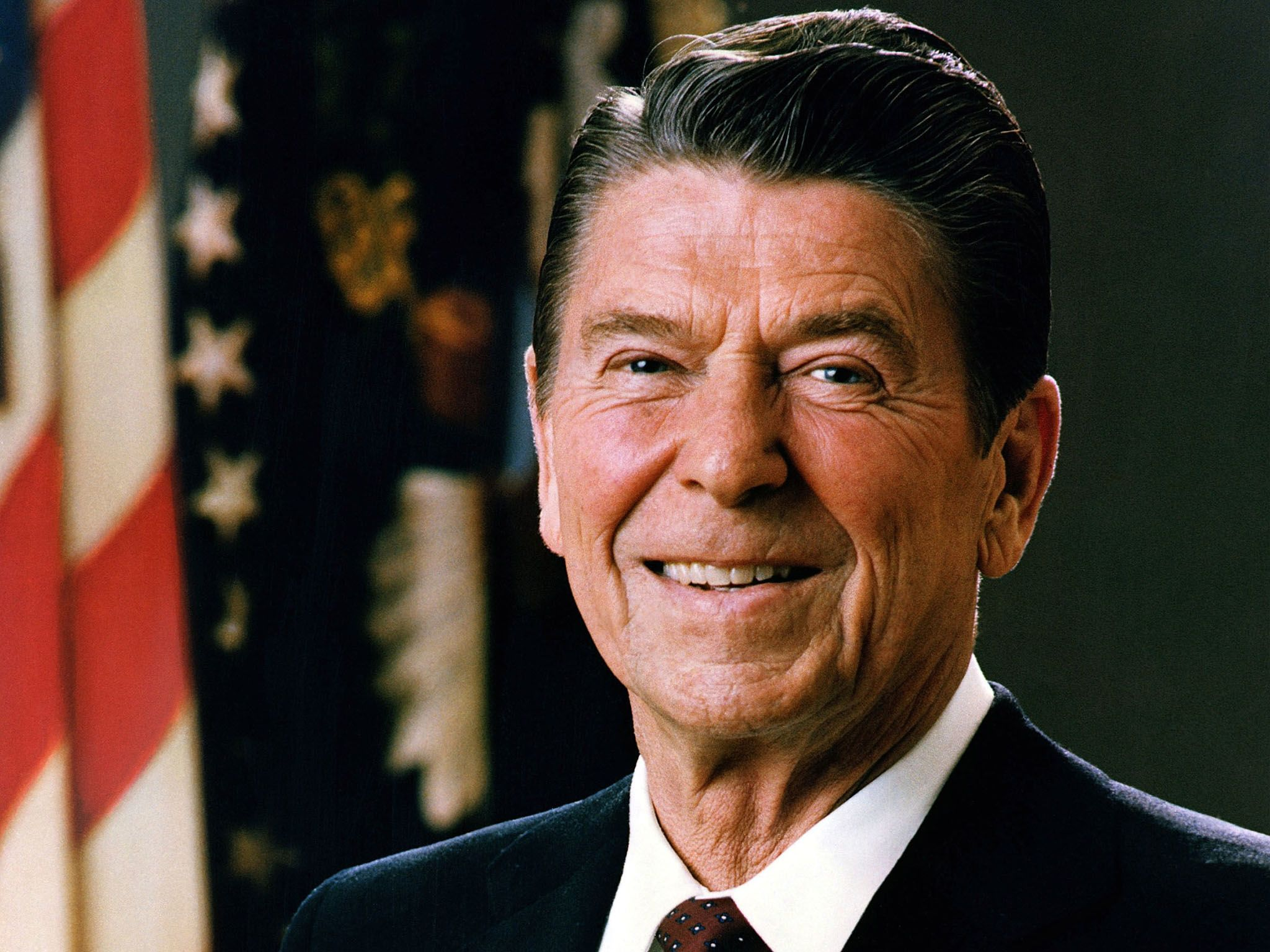 Ronald Reagan Official White House Portrait, 1981. This image is from Reagan: The Assassination... [Photo of the day - ژانویه 2017]