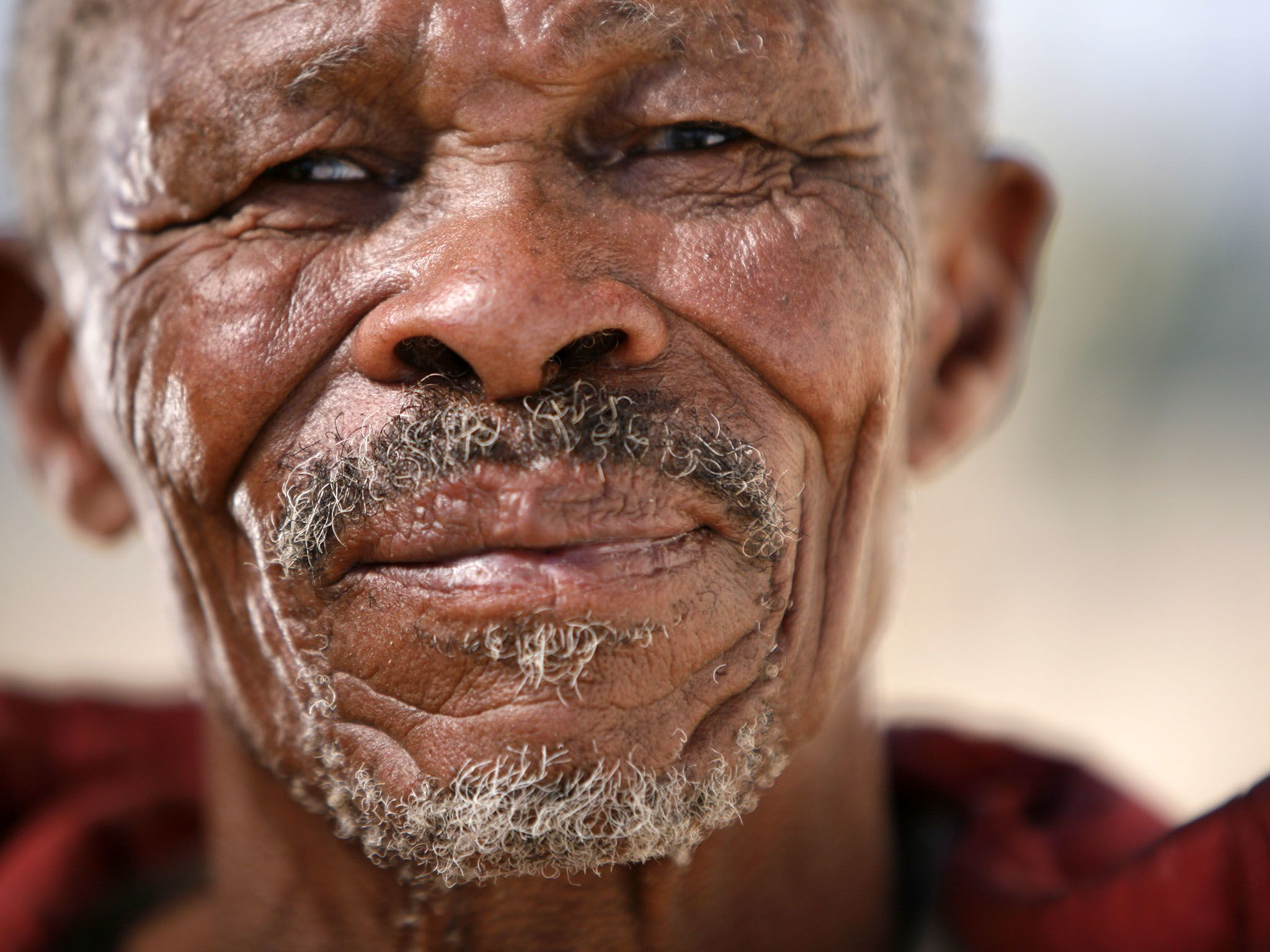 Andriesvale, Northern Cape, South Africa:  San patriarch living in Green Kalahari whose DNA was... [Photo of the day - 三月 2017]