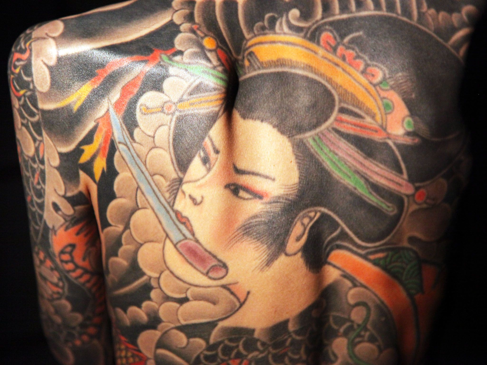Ikebukuro, Tokyo: Shoko Tendo is the daughter of Yakuza boss and  tattooed her body as a... [Photo of the day - April 2017]