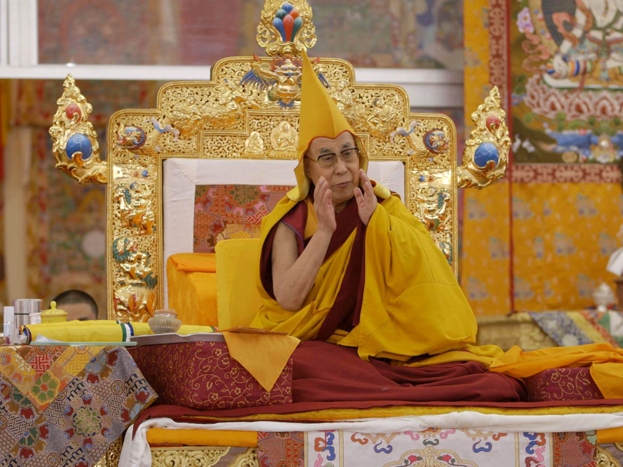 Bodh Gaya, Bihar, India: His Holiness The Dalai Lama leading the Kalachakra ceremony. This image... [Photo of the day - آوریل 2017]