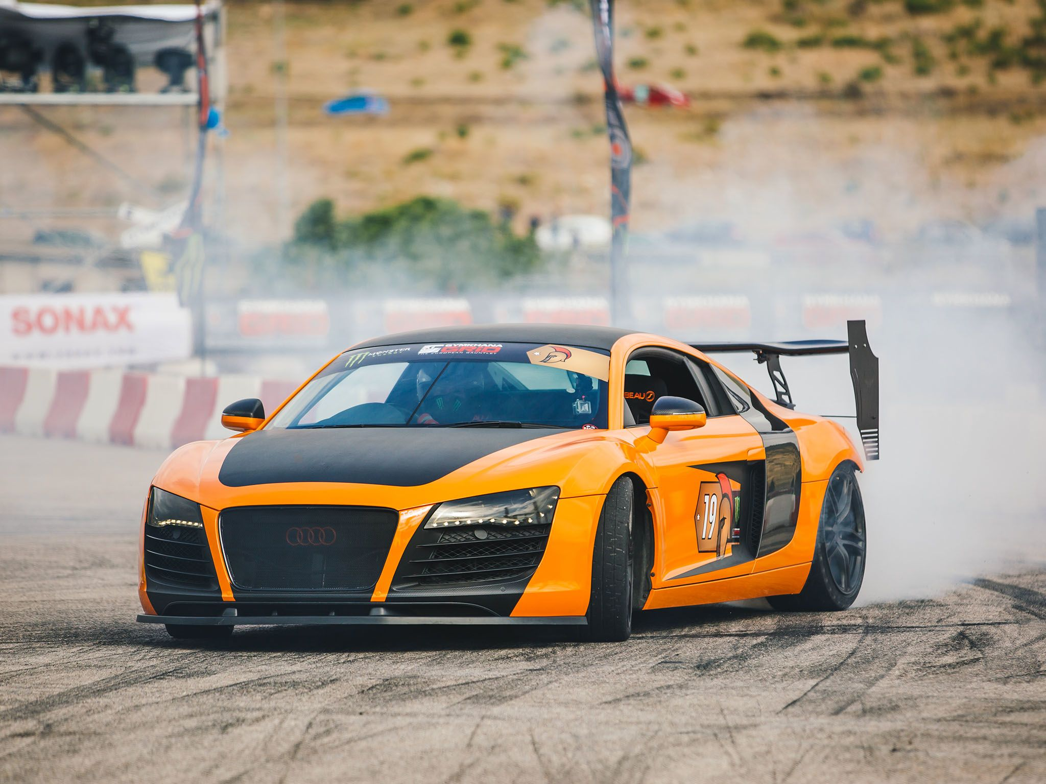 Marathonas, Greece: R8 on the track. This image is from Supercar Megabuild. [Photo of the day - May 2017]