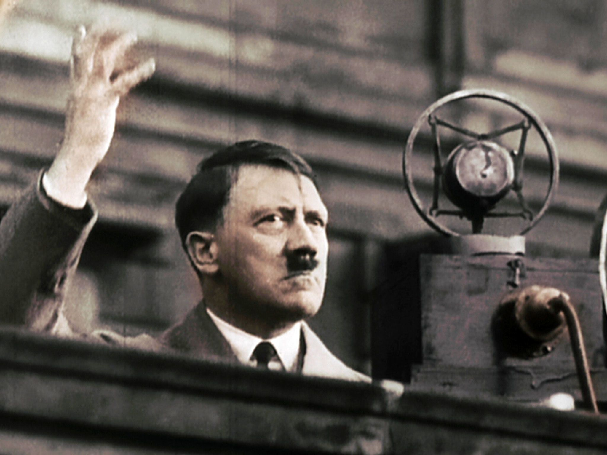 Germany, 1932: Hitler during his electoral campaign. This image is from Dawn of the Nazis. [Photo of the day - May 2017]
