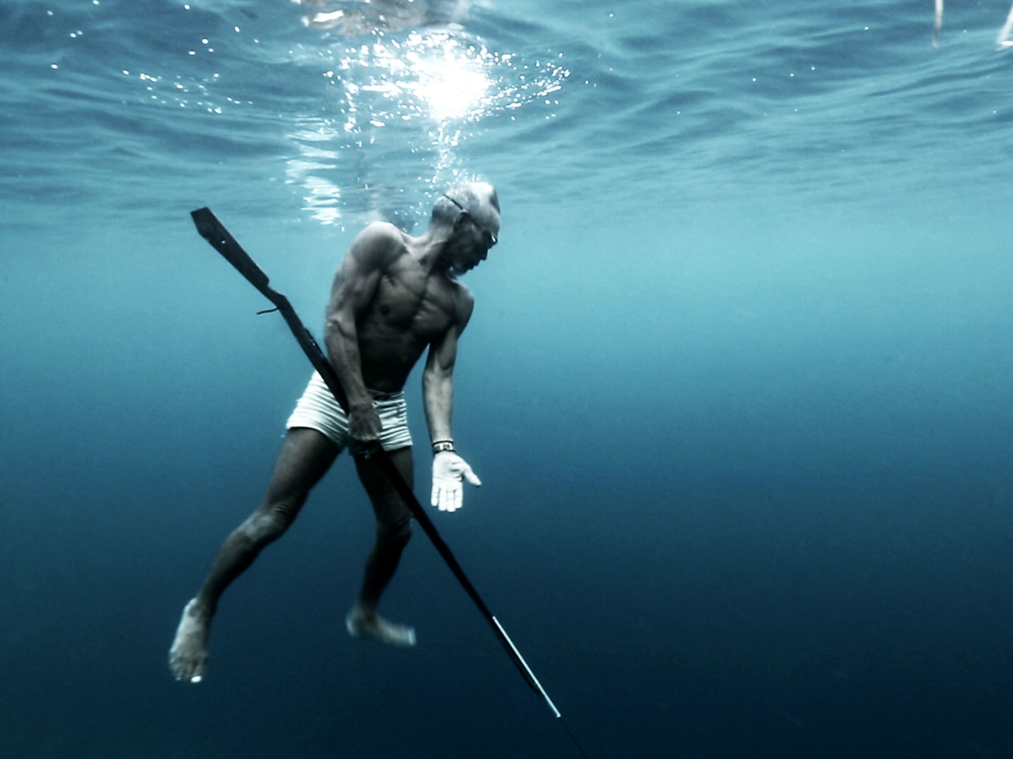 Sulawesi, Indonesia: A 75 year old Bajau elder who is a master harpoon fisherman. This image is... [Photo of the day - May 2017]