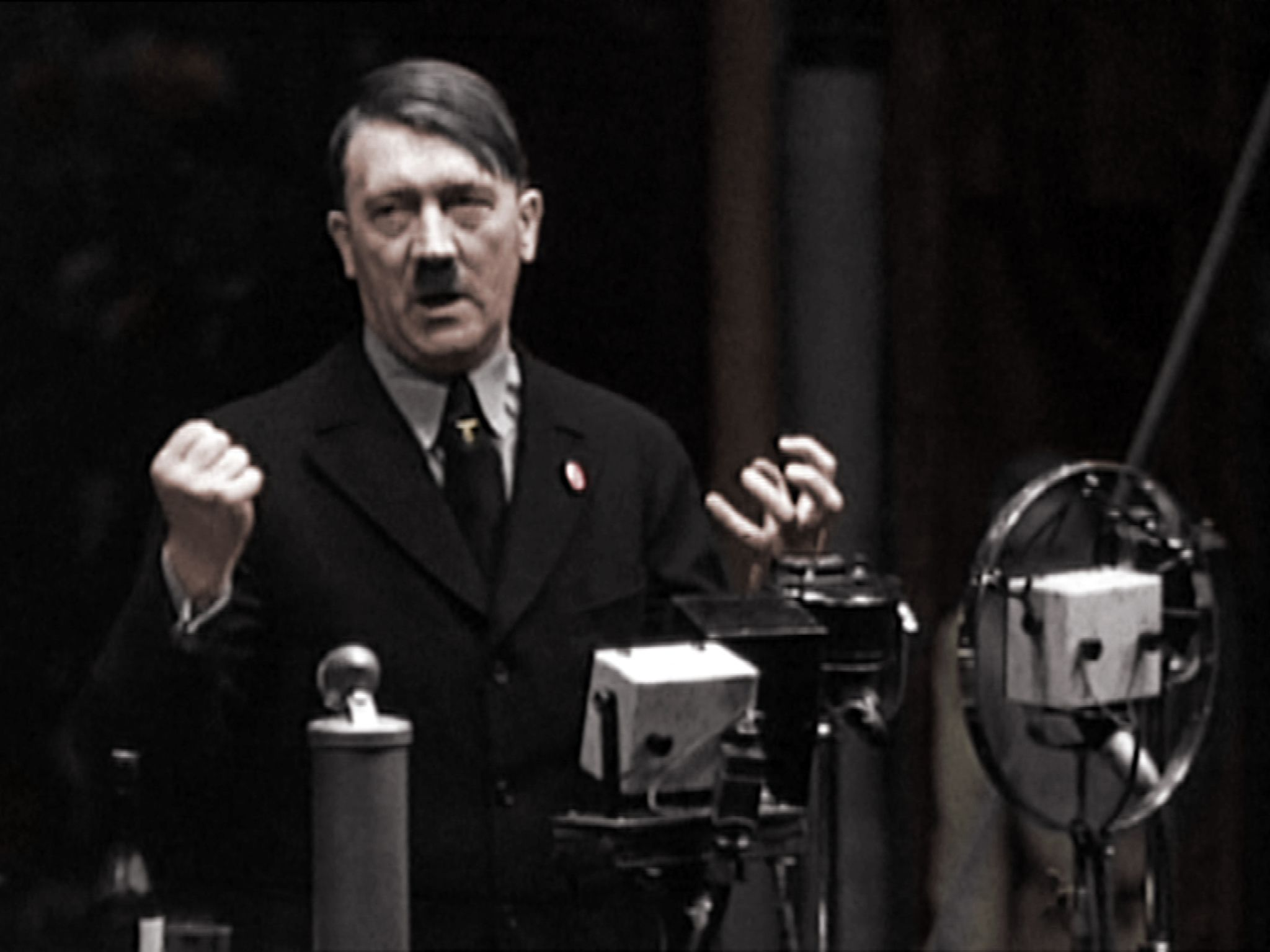 Germany, September, 1933: Adolf Hitler explains he comes from a poor background to workers from... [Photo of the day - May 2017]