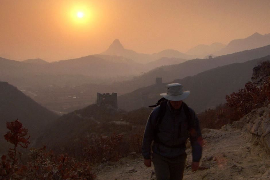 Historian William Lindesay walks along the Great Wall of China. This image is from Trekking The... [Photo of the day - February 2012]