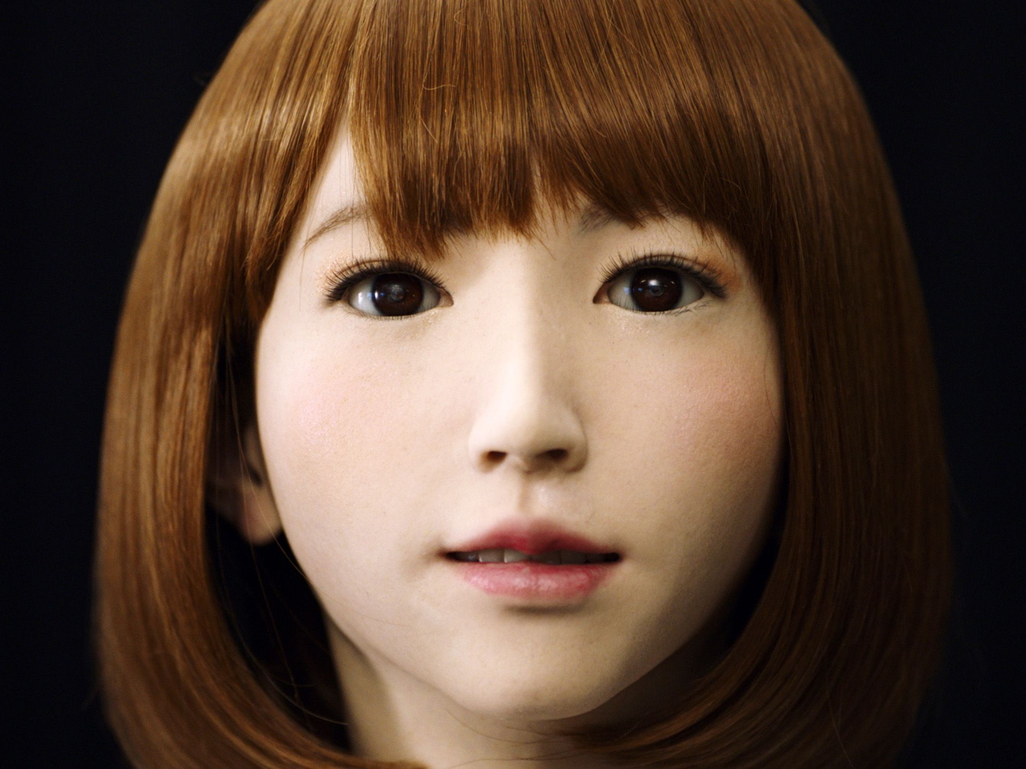 Kyoto, Japan: Close-up of ATR's lifelike AI creation, Erica at the Intelligence Robotics Lab.... [Photo of the day - August 2017]