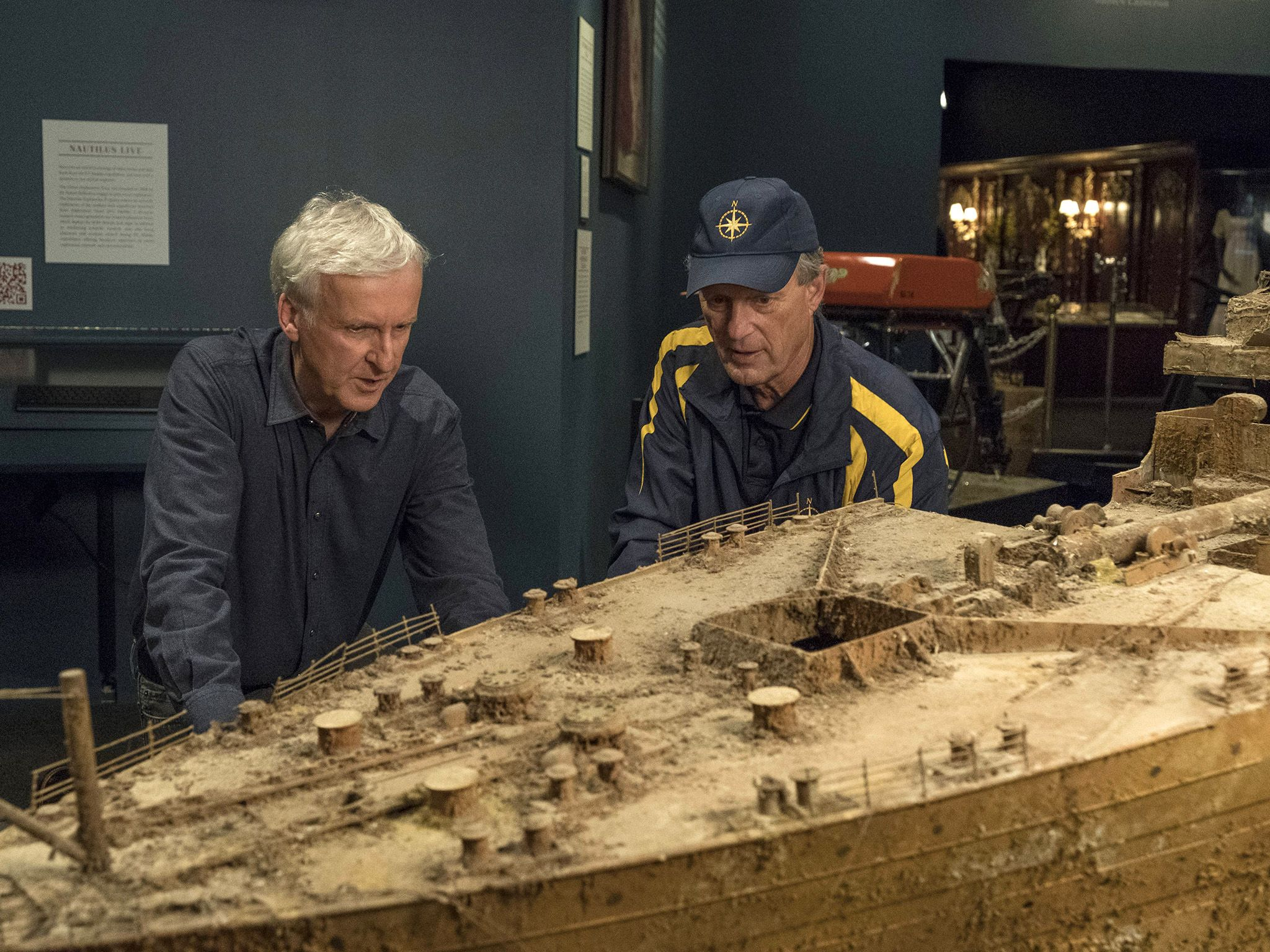 (L to R)  James Cameron and Bob Ballard. Titanic at the Reagan Library. This image is from... [Photo of the day - December 2017]