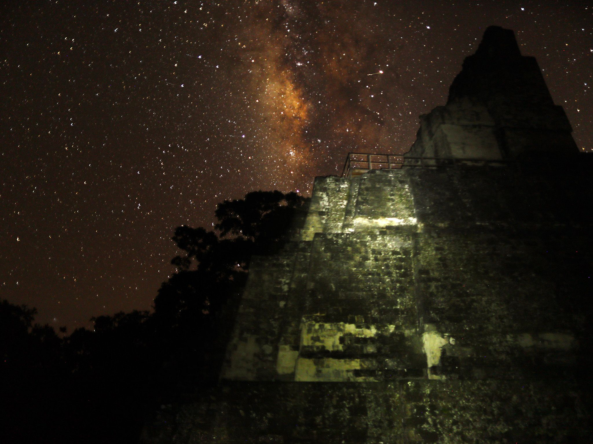 Tikal National Park, Guatemala:  Starry sky at night in Tikal National Park. This image is from... [Photo of the day - February 2018]
