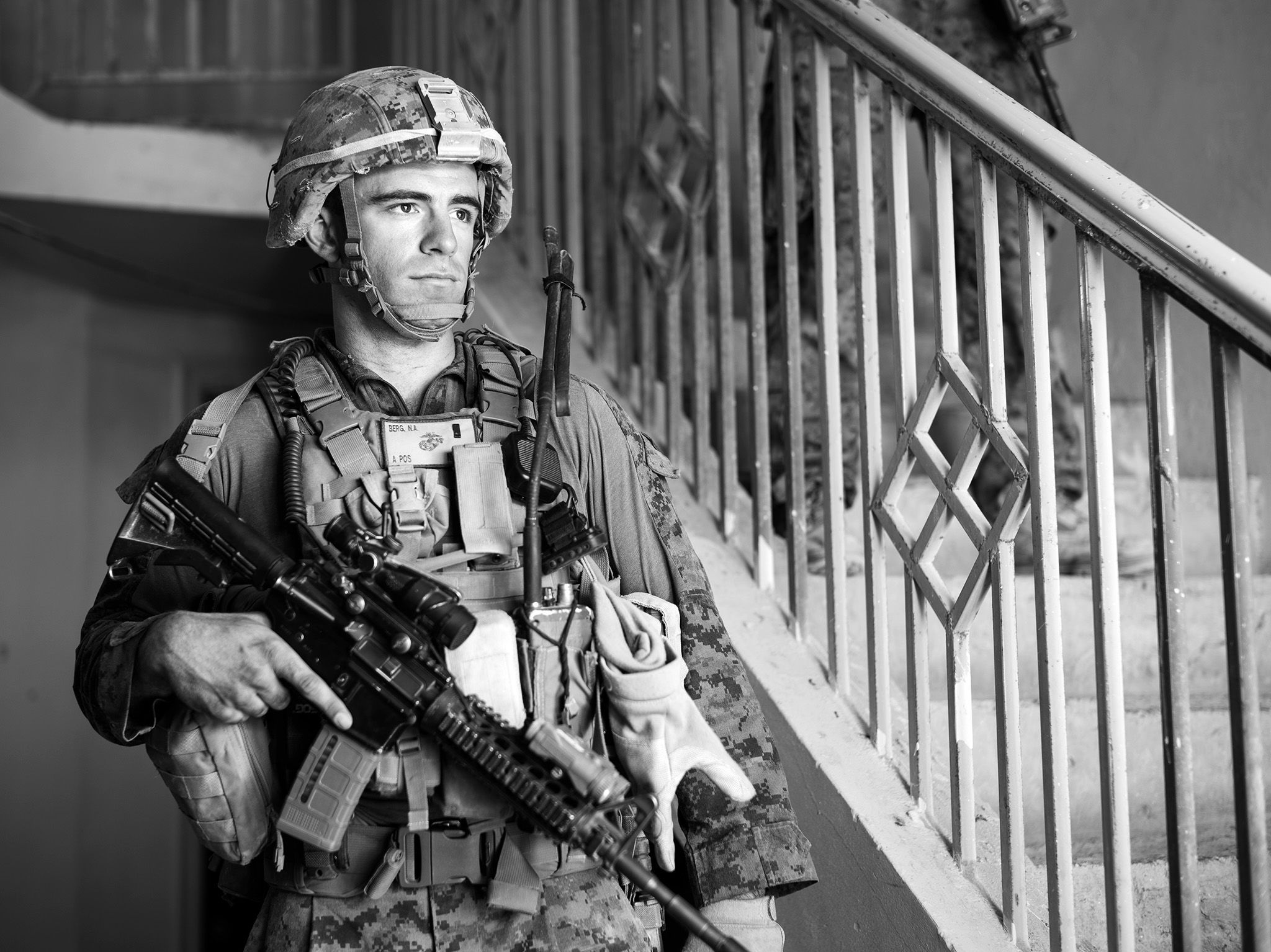 Afghanistan:  A Marine stands in a house.  This image is from Chain of Command. [Photo of the day - February 2018]