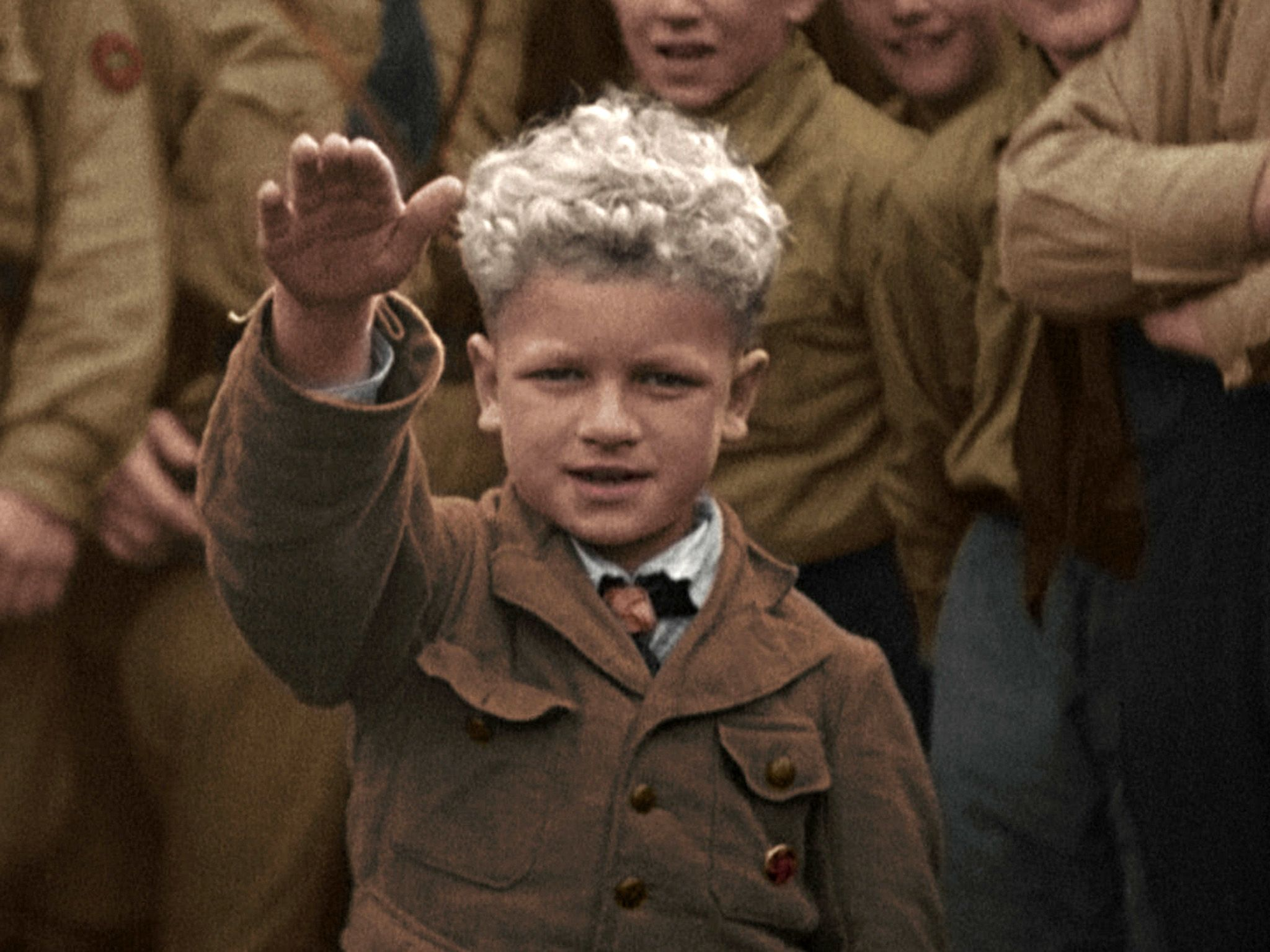 Germany:  The Hitler salute is part of everyday life from an early age. This image is from... [Photo of the day - May 2018]
