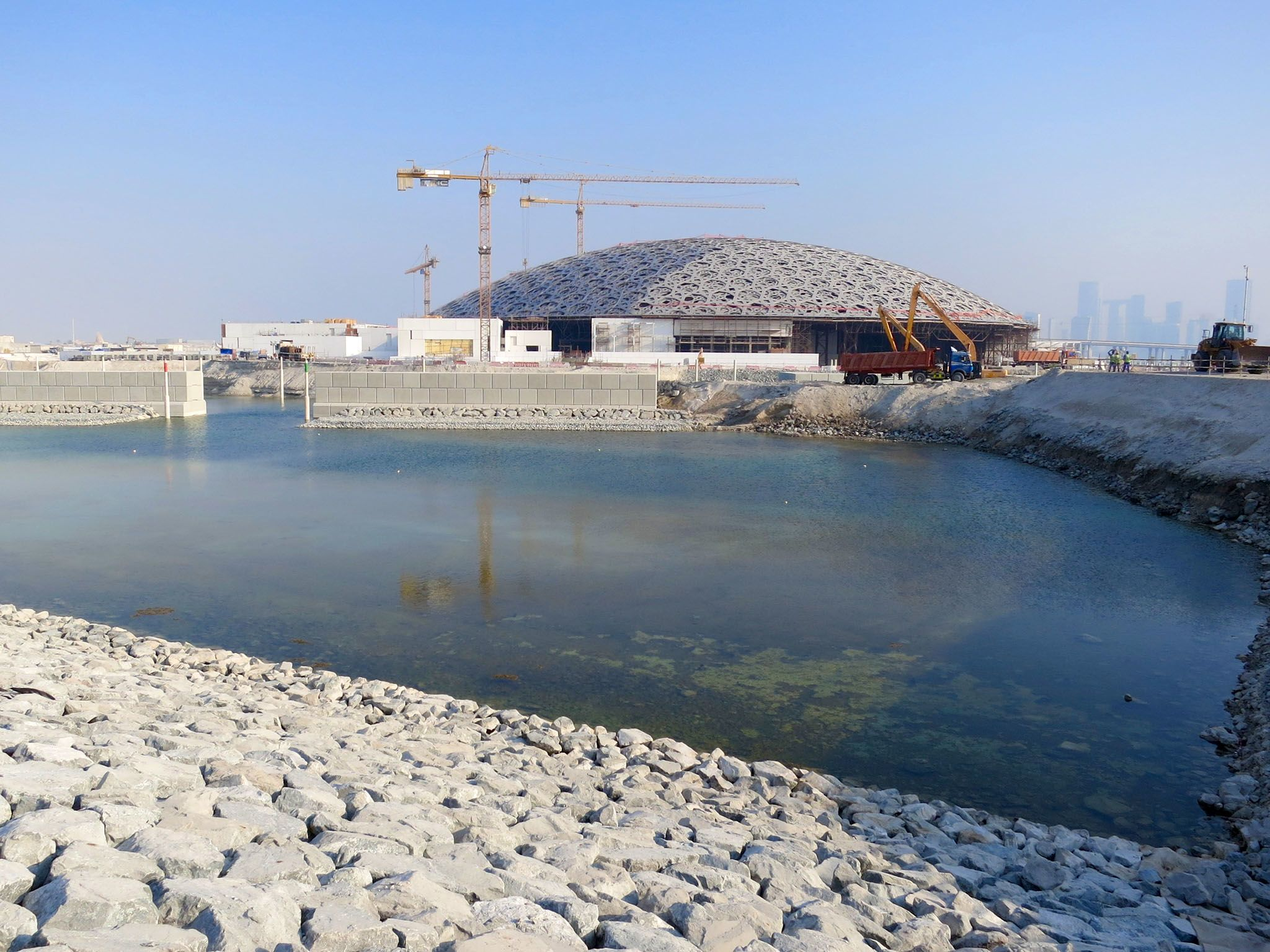 Abu Dhabi:  Exterior of the Louvre Ahu Dhabi, progress of marine works. This image is from... [Photo of the day - June 2018]