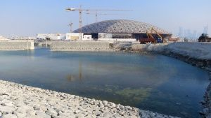 Abu Dhabi:  Exterior of the Louvre Ahu Dhabi, progress of marine works. This image is from... Foto del giorno - 22 giugno 2018