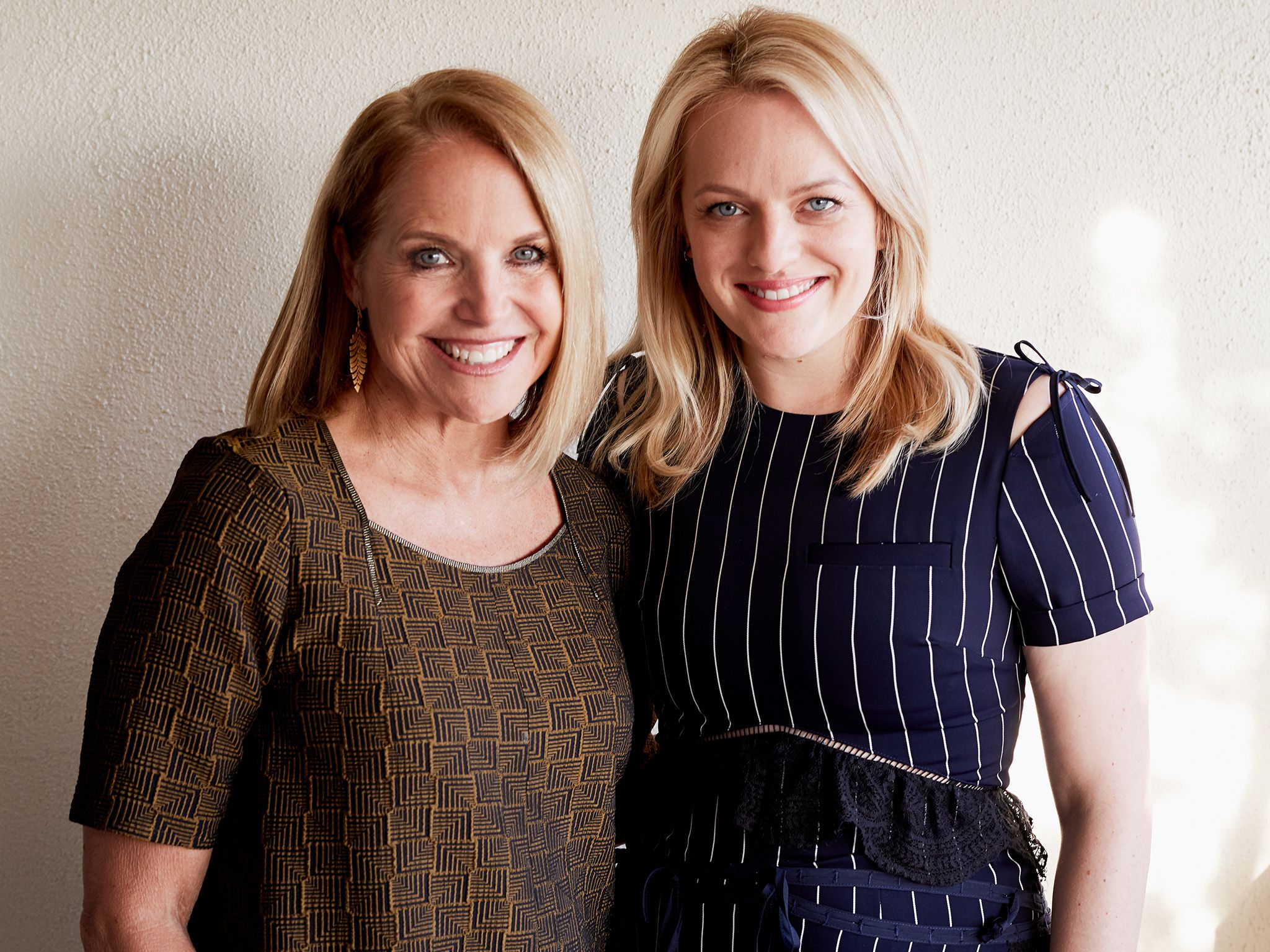Los Angeles, CA:  (L to R) Katie Couric and Elisabeth Moss. This image is from America Inside... [Photo of the day - August 2018]