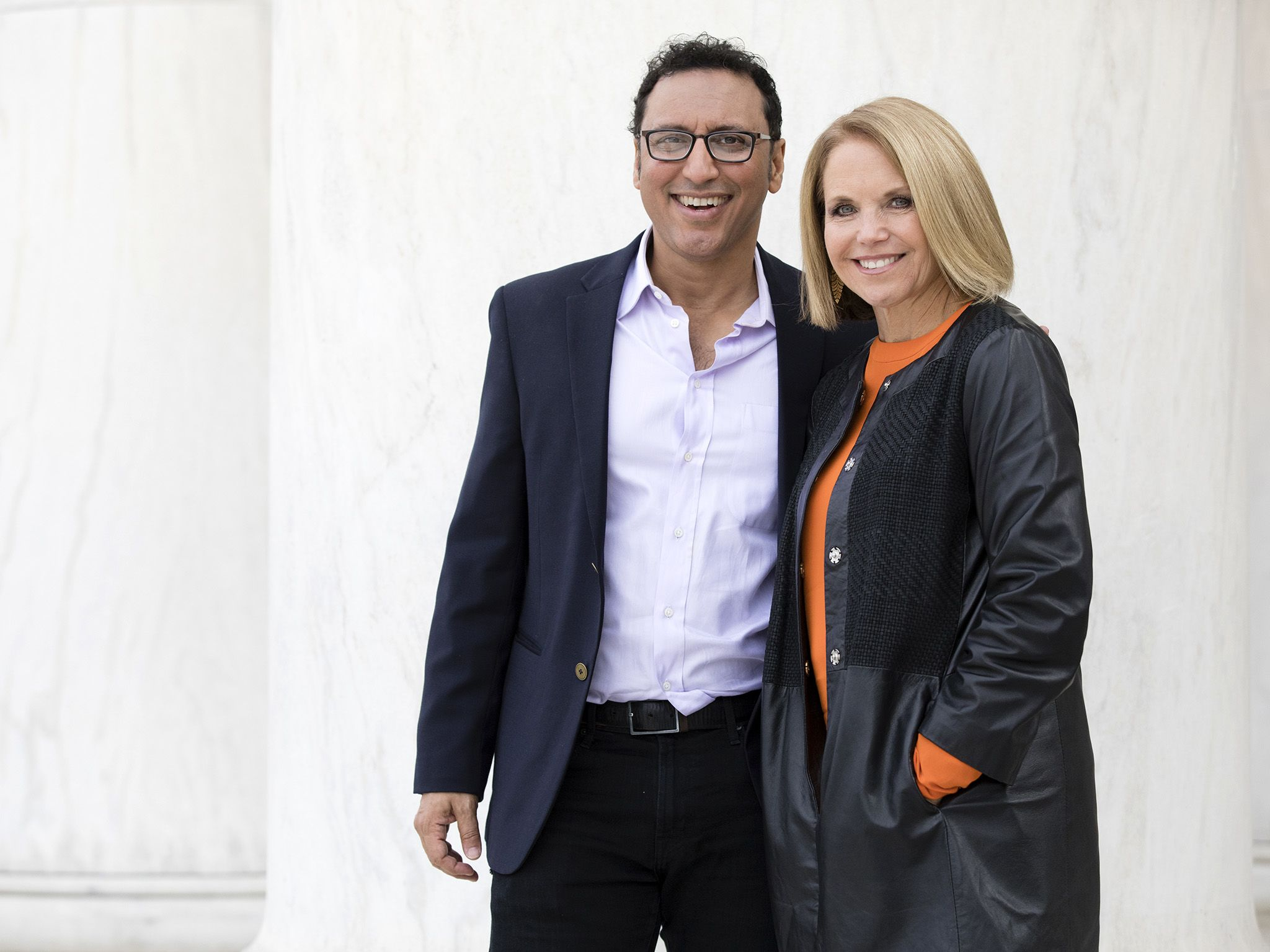 Washington, DC: (L to R) Aasif Mandvi and Katie Couric. This image is from America Inside Out... [Photo of the day - August 2018]