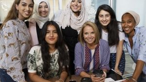 New York, NY:  Katie Couric (seated... [Photo of the day - 21 AUGUST 2018]