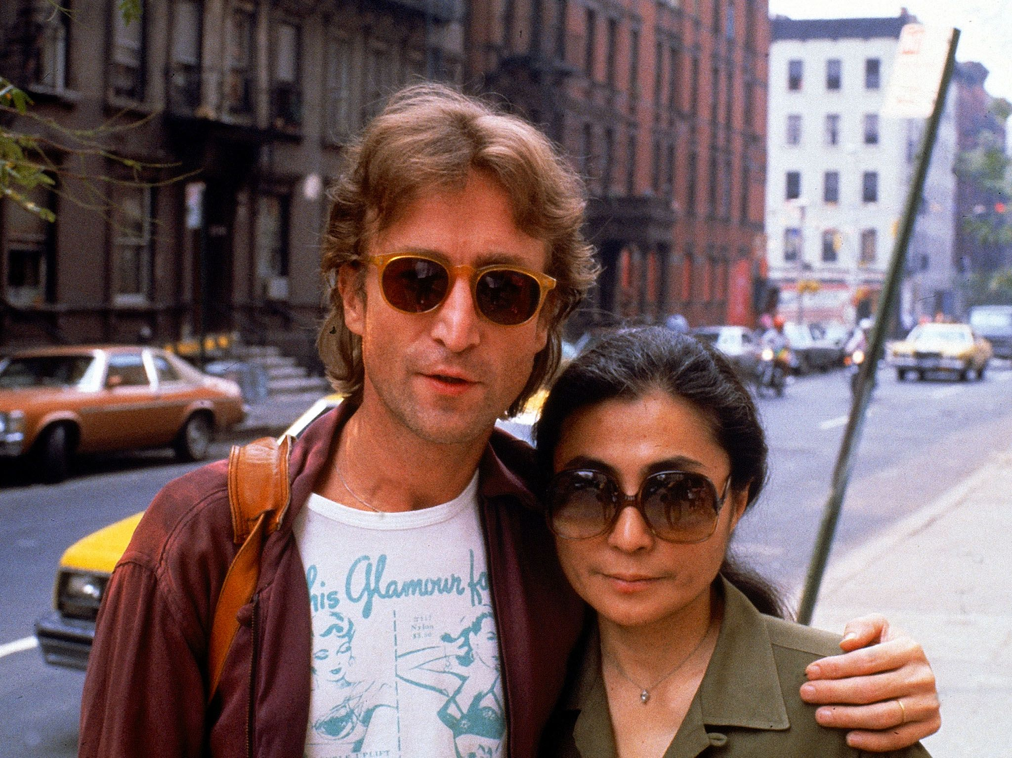 (L to R) Rock star John Lennon and  his wife Yoko Ono. This image is from Decades Remixed: The... [Photo of the day - October 2018]