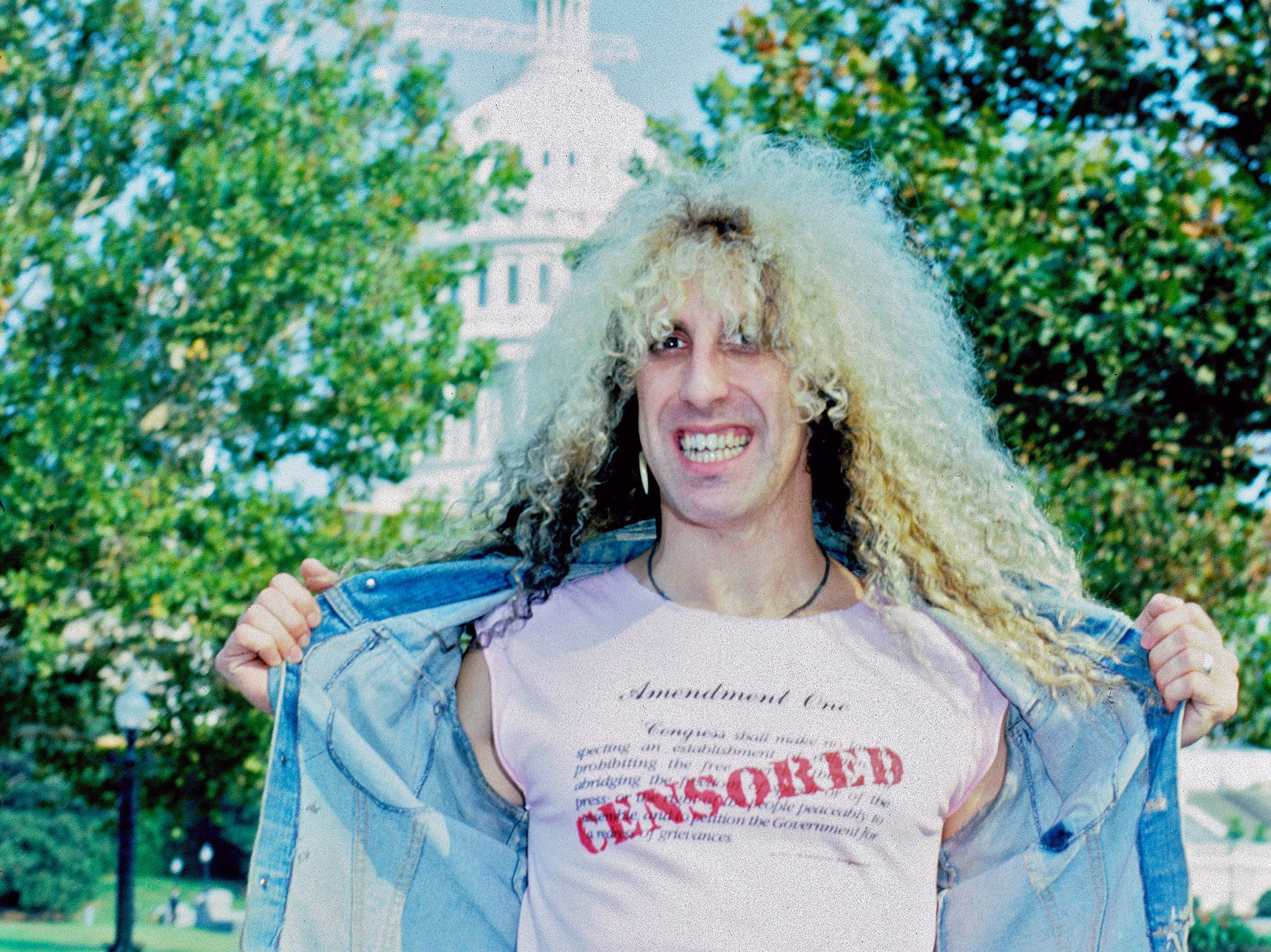 1985 Dee Snider CENSORED t-shirt. This image is from Decades Remixed: The '80s Greatest. [Photo of the day - October 2018]