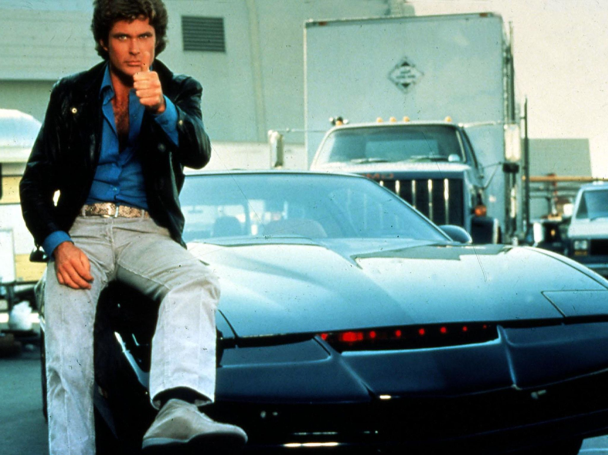 David Hasselhoff in Knight Rider. This image is from Decades Remixed: The '80s Greatest. [Photo of the day - October 2018]