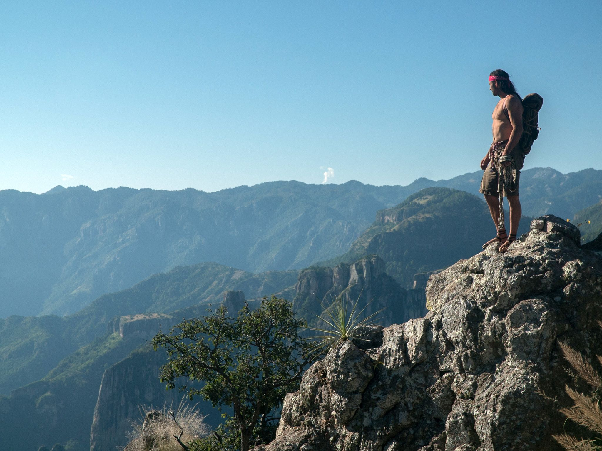 Copper Canyon, Mexico:  Hazen on Copper Canyon. This image is from Primal Survivor. [Photo of the day - December 2018]