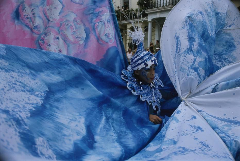 Today Europe's largest street carniva takes place. Here an eleaborate costume forms a swirling... [Photo of the day - August 2011]