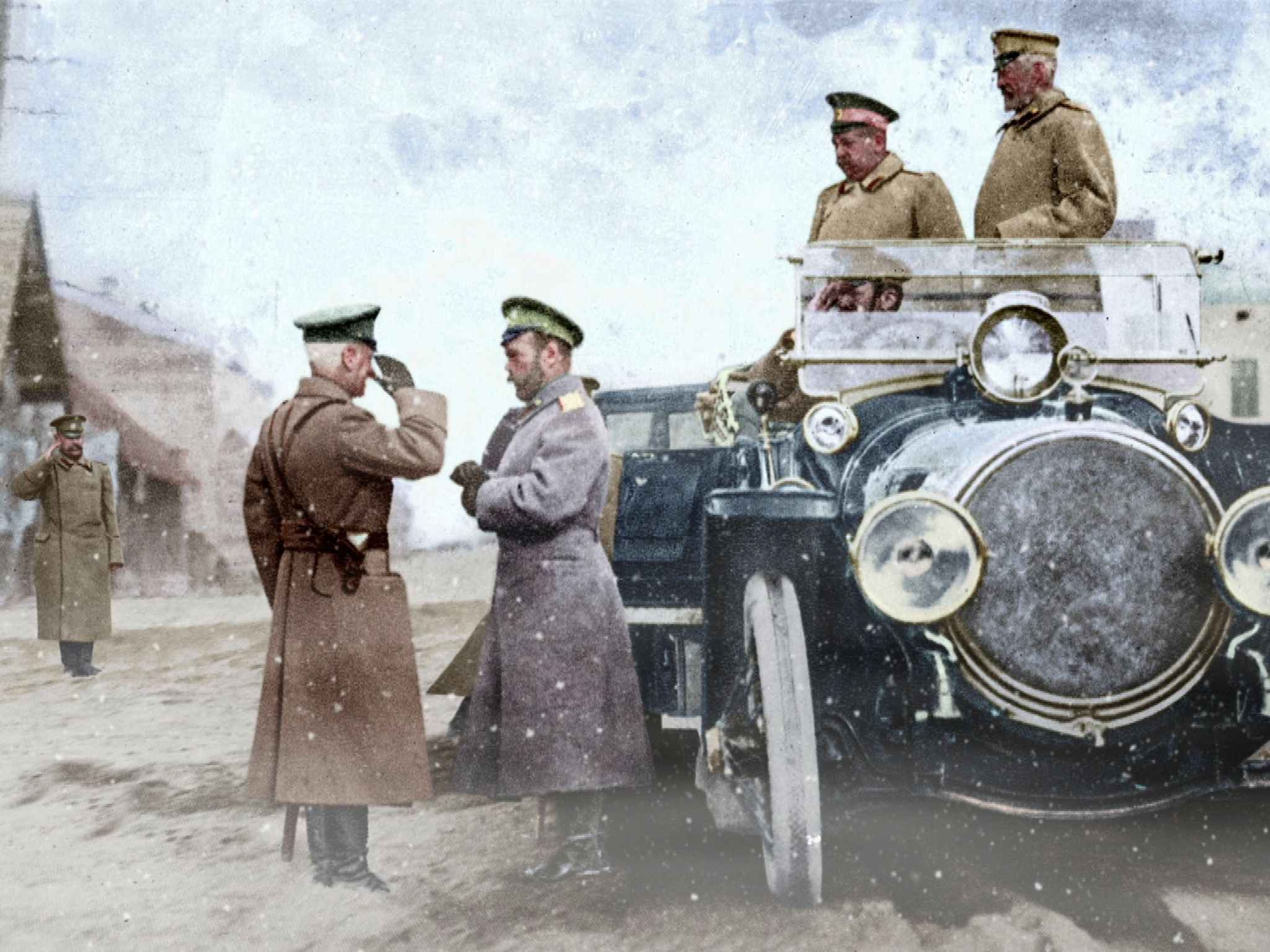 The Tsar on the front.  This image is from 1917: One Year, Two Revolutions. [Photo of the day - February 2019]