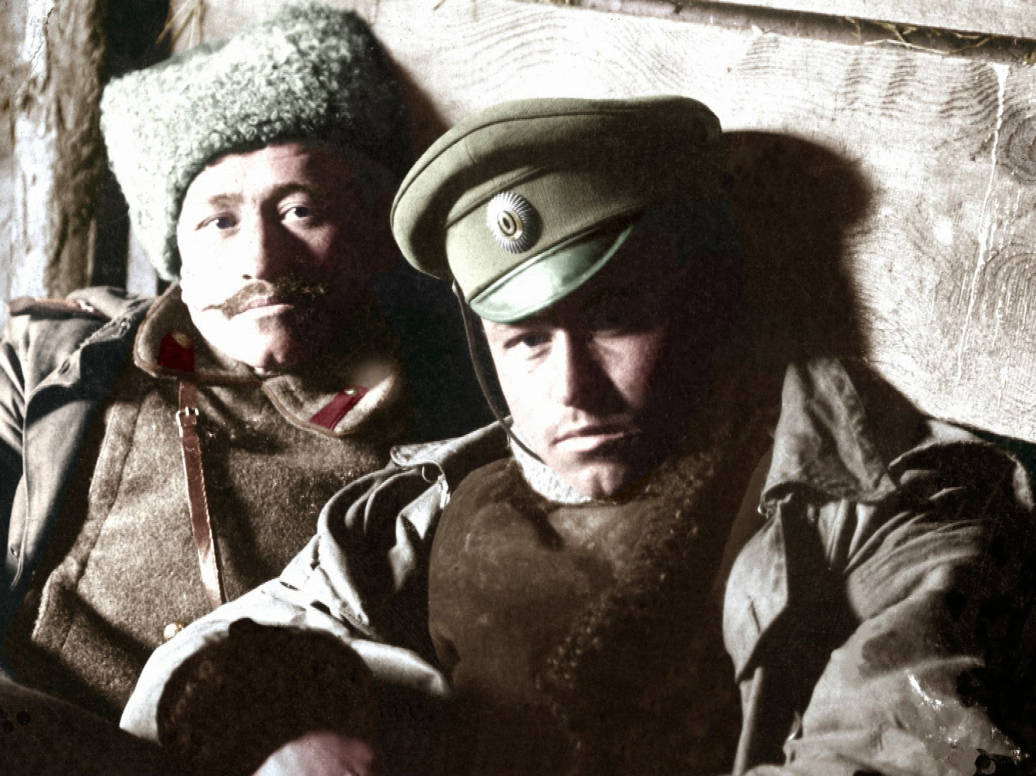 Russian soldiers.  This image is from 1917: One Year, Two Revolutions. [Photo of the day - February 2019]