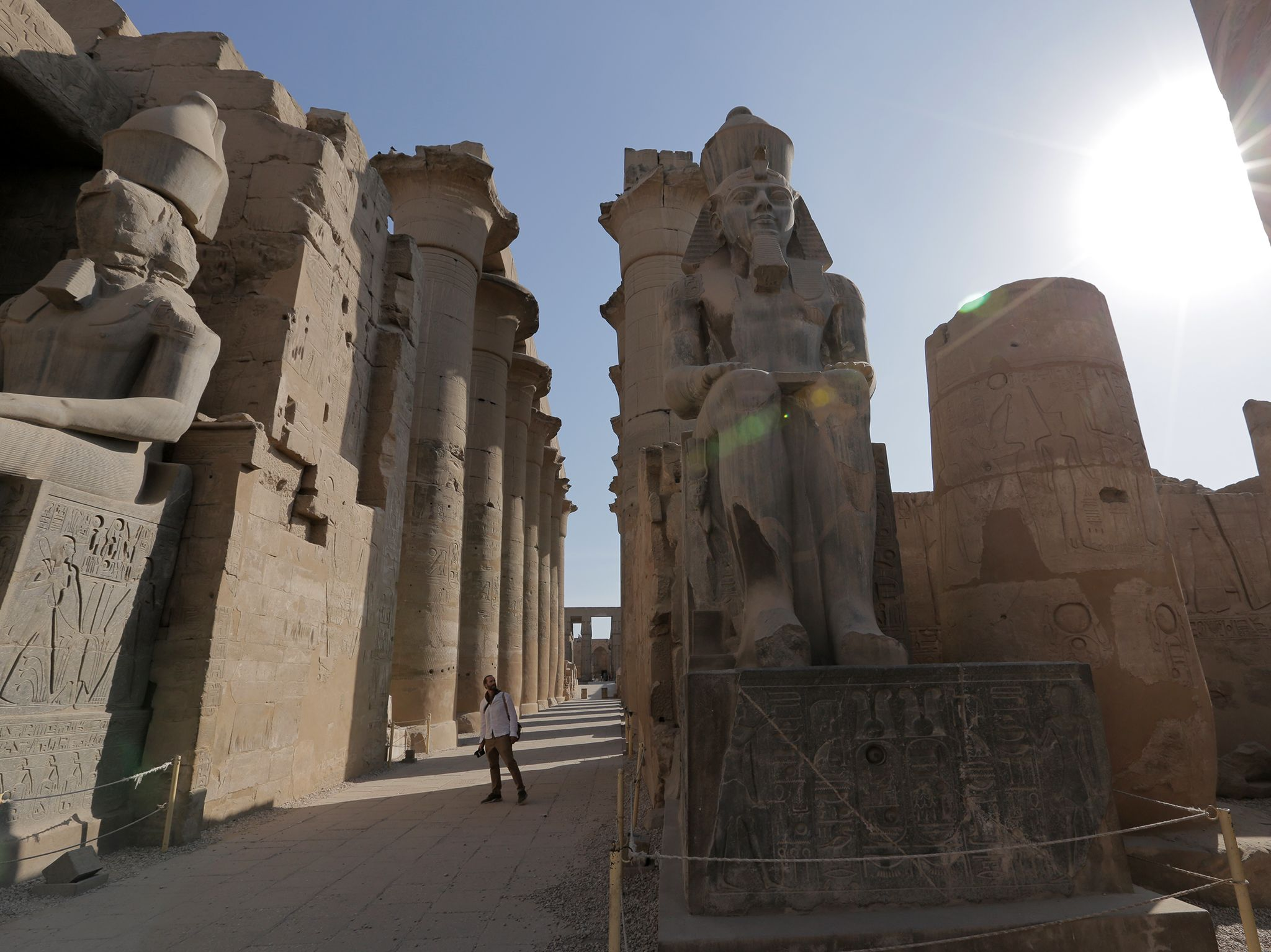 Joe enjoying some time as a tourist visiting Luxor Temple. This image is from Egypt with the... [Photo of the day - April 2019]