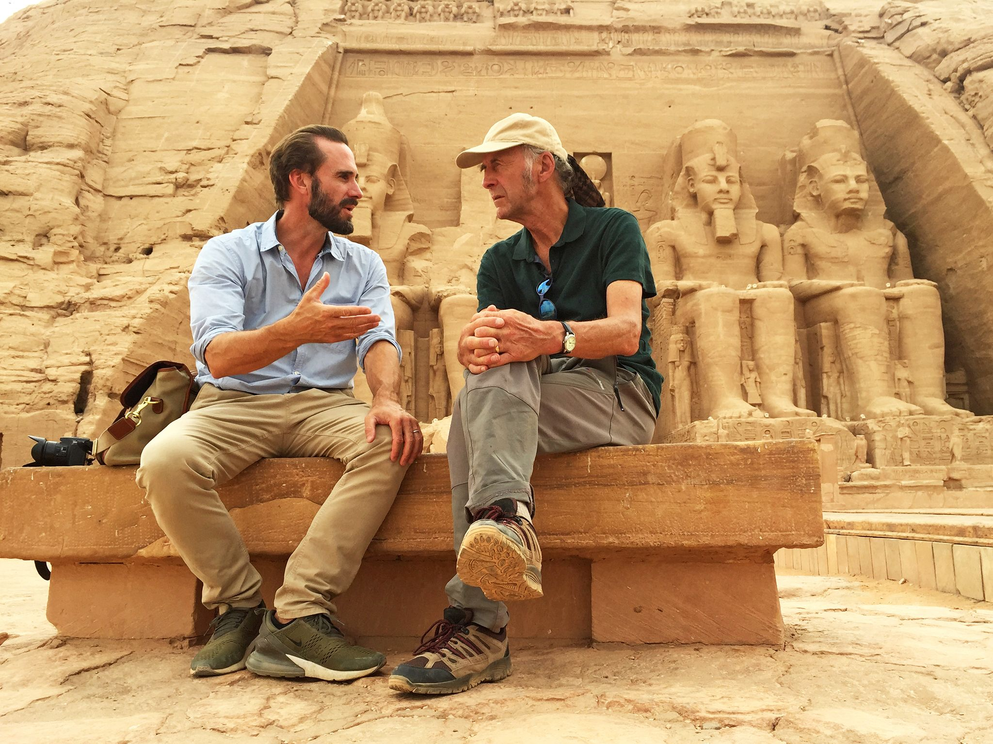 Aswan, Egypt: Joe and Ran reflect on their adventure at it's spectacular final location: the... [Foto del giorno - aprile 2019]