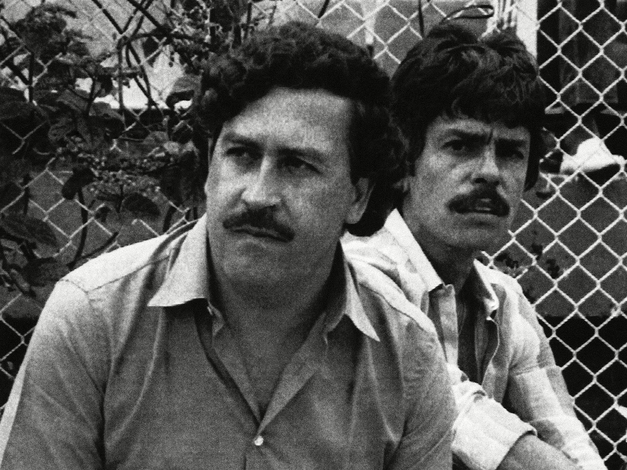 Medellîn, Colombia:   Pablo Escobar Medellin drug cartel boss watches a soccer. This image is... [Photo of the day - می 2019]
