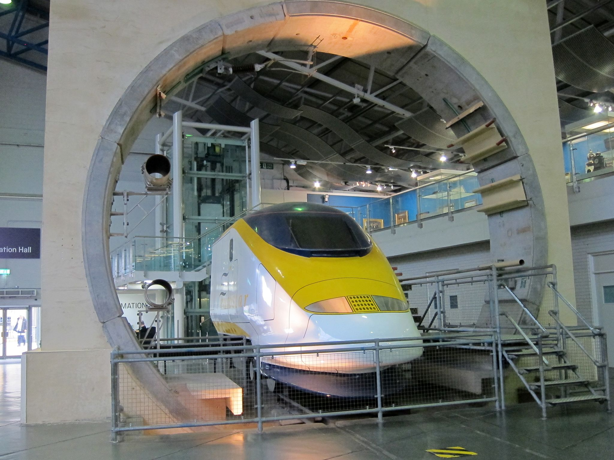 The front of the Eurostar train at National Railway Museum.  The Eurostar is featured on several... [Photo of the day - June 2019]