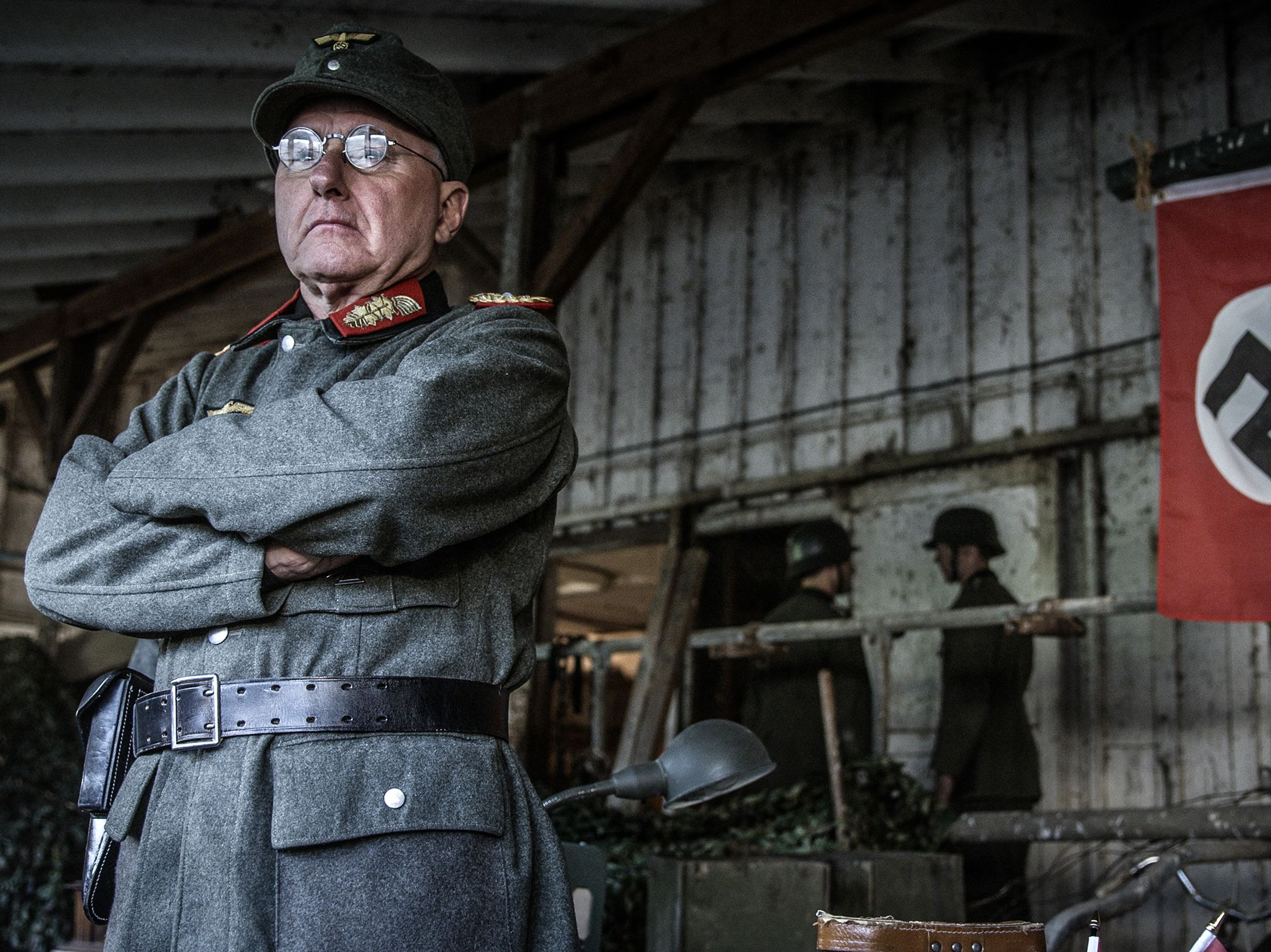 Dramatic recreation of Lieutenant-General Wilhelm Daser controlling the defenses of Walcheren... [Photo of the day - June 2019]
