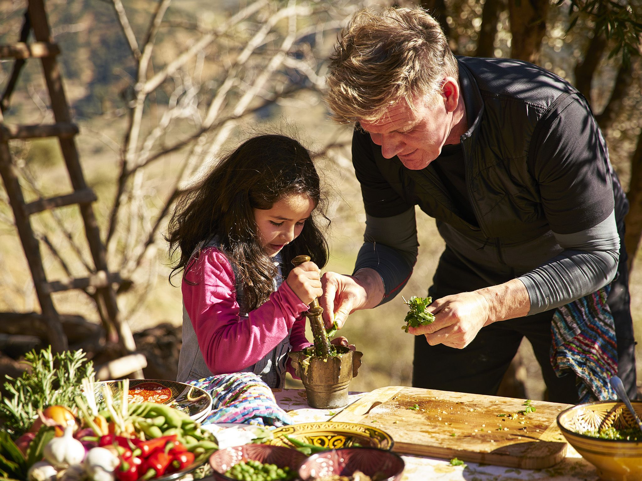Morocco:  Gordon Ramsay (R) unlocks hidden culinary secrets with assistance from a local in... [Photo of the day - July 2019]