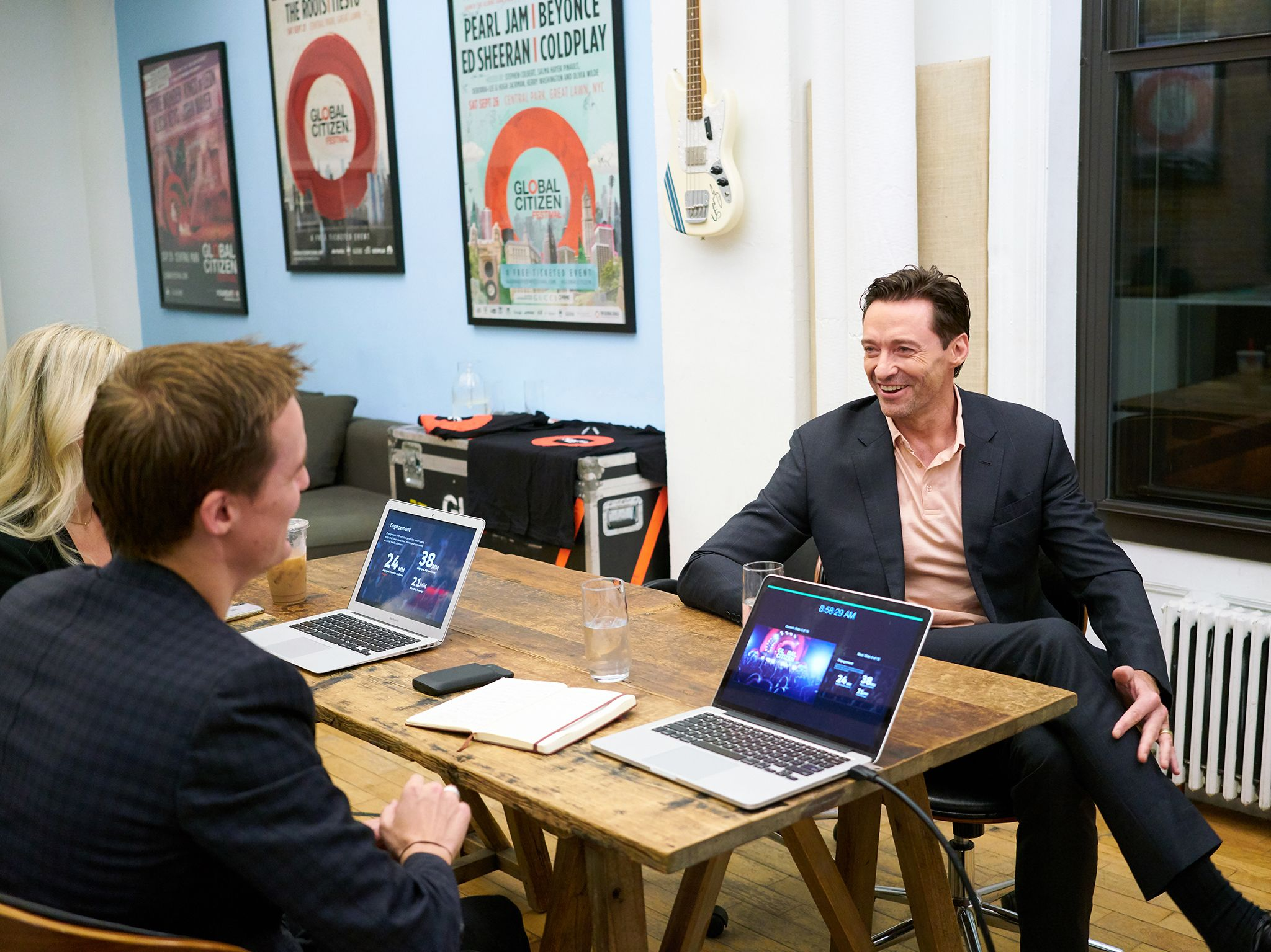 Hugh Jackman meets with the Global Citizen team. This image is from Activate: The Global Citizen... [Photo of the day - سپتامبر 2019]