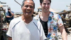Daren Criss (right) jokes with a... [Photo of the day - 15 سپتامبر 2019]