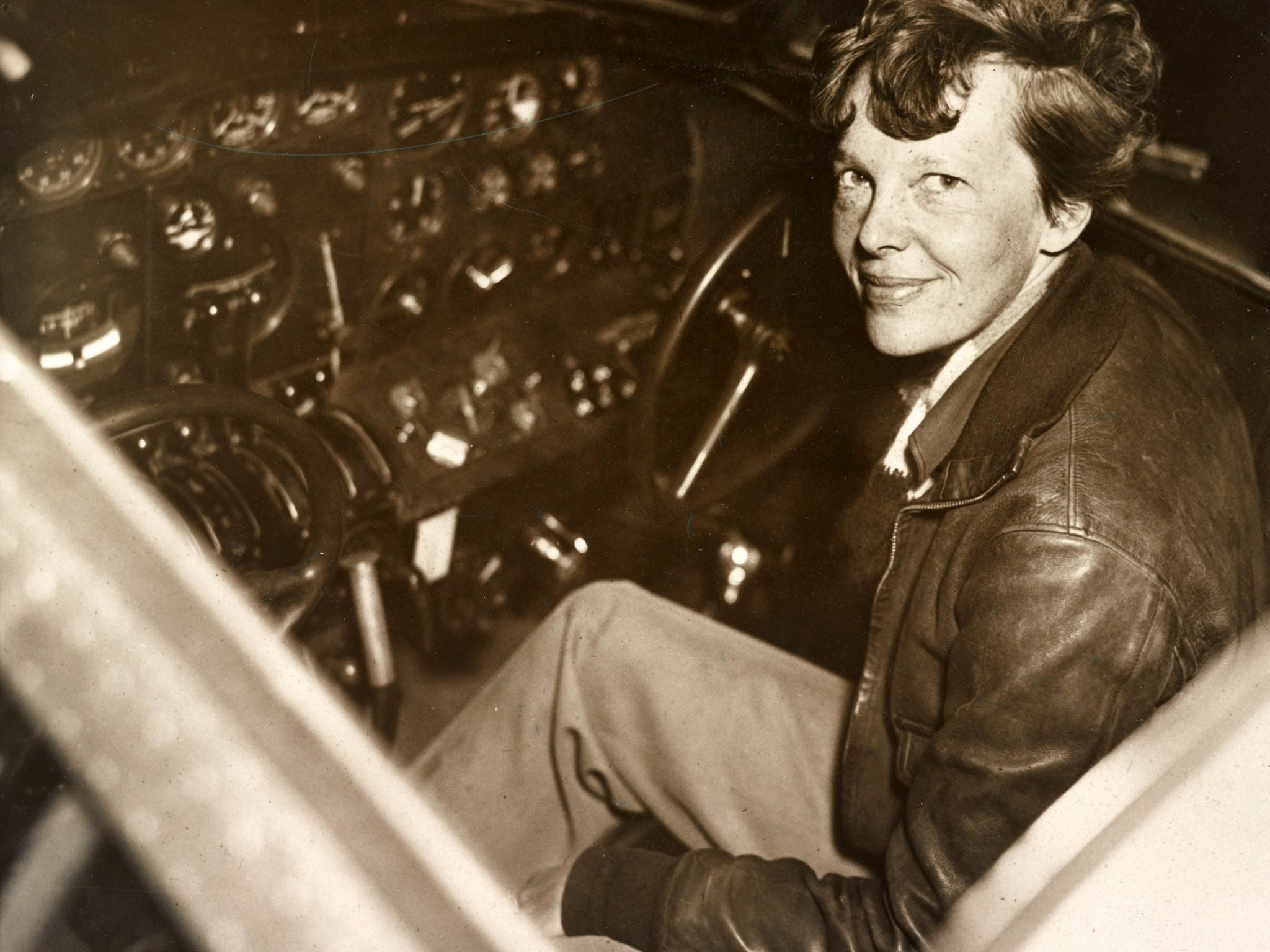 File photo of Amelia Earhart released December 1937. This image is from Expedition Amelia. [Photo of the day - October 2019]