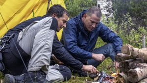 Norway:  (L to R) Bear Grylls and... [Photo of the day - 13 نوامبر 2019]