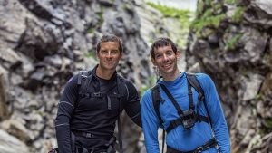(L to R): Bear Grylls and Alex... [Photo of the day - 19 نوامبر 2019]