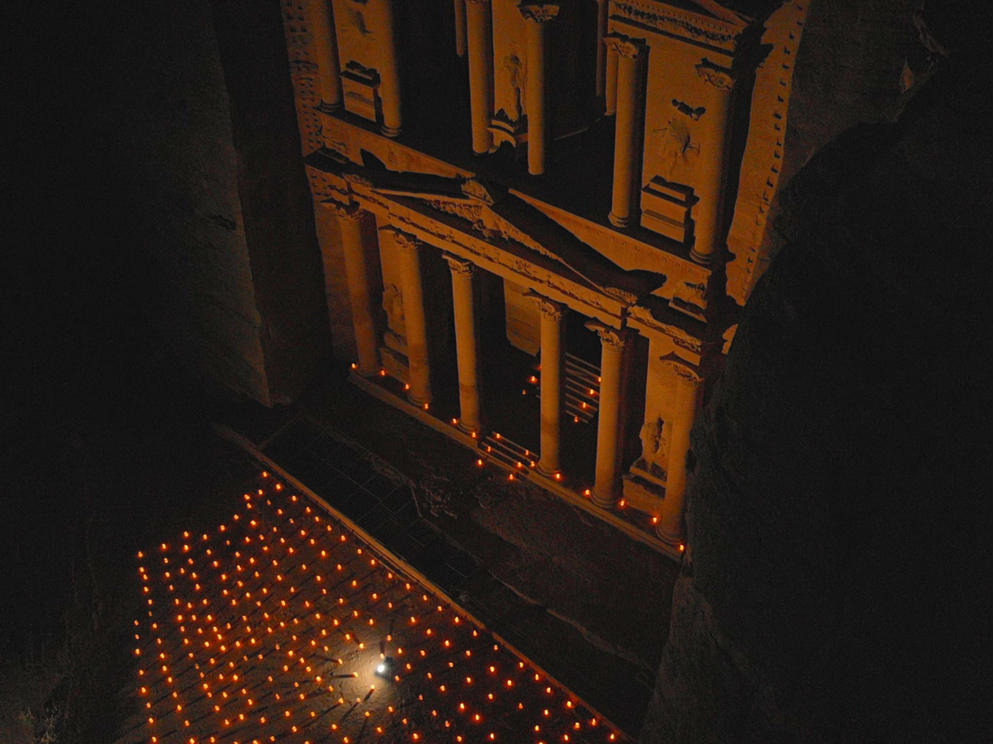 Petra, Jordan:  Petra's Treasury at night.  This image is from Buried Secrets of The Bible with... [Photo of the day - December 2019]