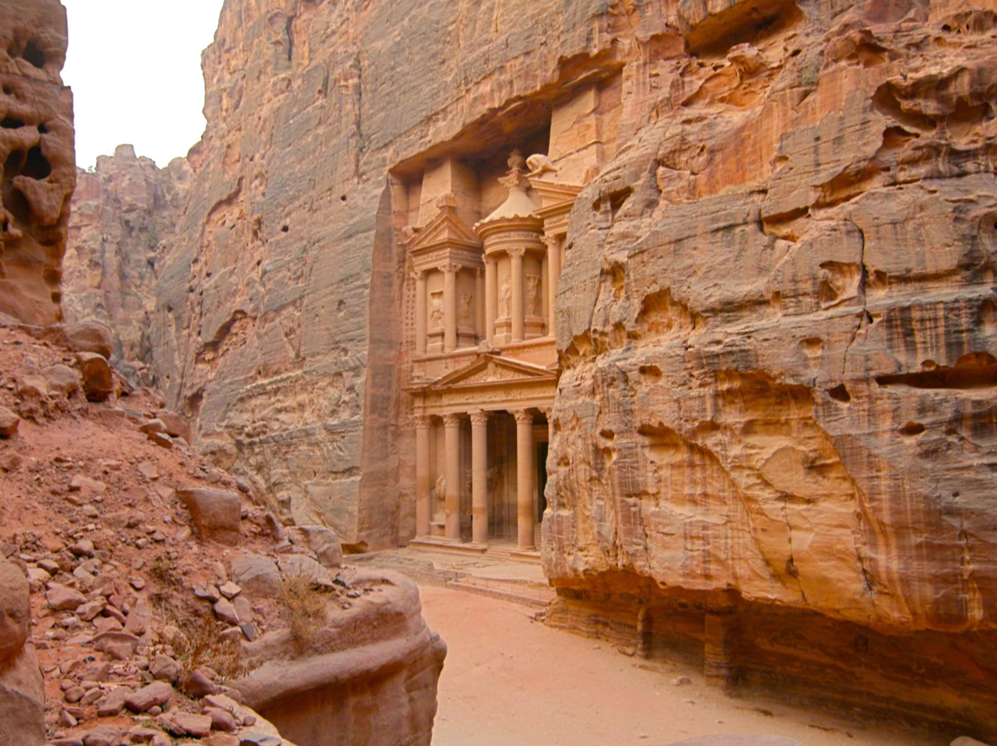 Petra, Jordan:  The Treasury at Petra. This image is from Buried Secrets of The Bible with... [Photo of the day - December 2019]