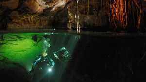 Inside the blue hole with Kenny Broad photo