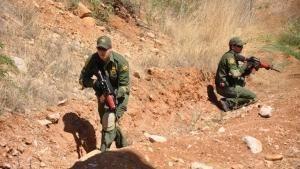 I soldati impegnati nella guerra di confine foto