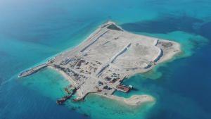 بناء جزيرة الفردوس صورة