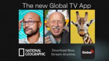 National Geographic on the All-New Global TV App show