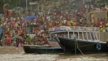 The Ganges at Varanasi show