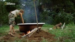 Come prepararsi un bagno caldo all'aria aperta foto